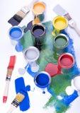 画笔油漆 免版税库存照片