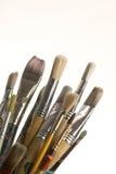 画笔油漆 免版税库存图片