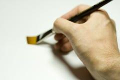 画笔现有量绘画 免版税库存图片
