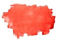 画笔红色抚摸水彩 免版税图库摄影