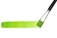 画笔绿线 库存照片