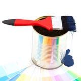 画笔水滴油漆 库存图片