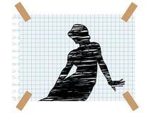 画纸妇女 免版税库存图片