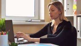 画象可爱的女实业家 股票录像