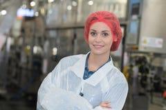 画象女性工厂劳工 库存图片