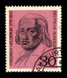 画象弗里德里克Holderlin 1770-1843,德国诗人 库存照片