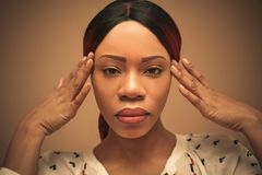 画象非洲人妇女 beauvoir 关闭 库存照片