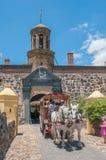 留下好希望的城堡用马拉的教练 免版税库存图片