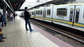 留下轻便铁路从驻地的运输火车 影视素材