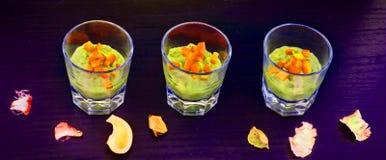番木瓜和芒果apetizer 图库摄影