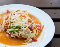 番木瓜泰国沙拉的样式 库存照片