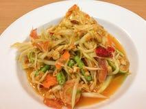 番木瓜泰国沙拉的样式 免版税库存图片