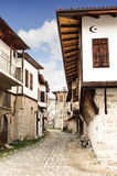 番红花城yoruk村庄房子在Karabuk土耳其 免版税库存照片