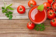 番茄汁 库存图片