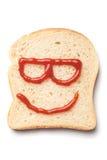 番茄酱面带笑容 库存照片