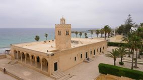 疆土中世纪堡垒的Ribat伟大的回教清真寺在Monastir,突尼斯 影视素材