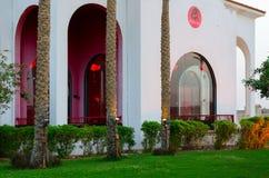 疆土旅馆西瓦Sharm前Savita手段5 *在鲨鱼咆哮, Sharm El谢赫,埃及 中国餐馆 免版税库存照片
