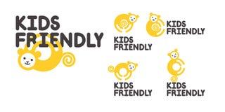 疆土的标志意欲或孩子的保险柜 与猴子的商标 图库摄影