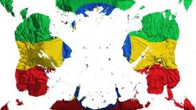疏散埃塞俄比亚旗子 库存例证