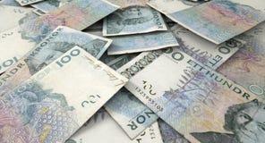 疏散钞票堆 免版税库存图片