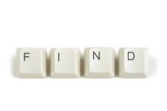 从疏散键盘键的发现在白色 免版税库存照片
