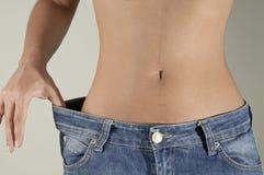 疏松重量的饮食 免版税库存照片