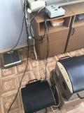 治疗体育屋子的设备  训练用具刺激品是生物力学的 在视图之上 库存照片