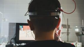 医疗保健儿童` s诊断-眼睛脑子研究-眼科学诊所 库存图片