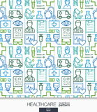 医疗保健墙纸 无缝医疗的模式 库存图片