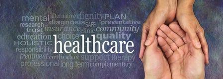 医疗保健工作者竞选横幅 免版税库存照片