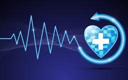 医疗保健数字式抽象背景 图库摄影