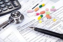 医疗保健概念2的费用 免版税库存照片