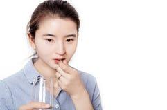 医疗保健的亚裔妇女 免版税库存照片
