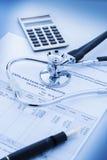医疗保健的费用 免版税图库摄影