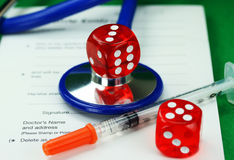 医疗保健赌博 库存照片