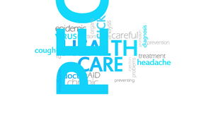 医疗保健,生气蓬勃的印刷术 库存例证
