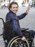 医疗保健:轮椅用户 免版税库存图片