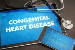 医疗先天心脏病(先天性紊乱)的诊断 图库摄影
