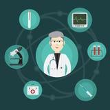 医疗创新和医生 免版税图库摄影