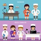 医疗办公室 儿童的接种 图库摄影