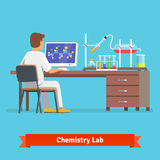 医疗化学实验室工作者研究 库存例证
