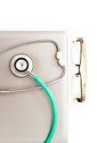 医疗听诊器。 免版税图库摄影