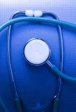 医疗听诊器。 免版税库存图片