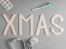 医疗圣诞节 库存照片
