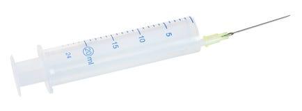 医疗塑料一次性20 ml注射器 免版税库存照片