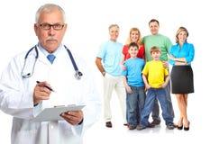 医疗家庭医生和患者 图库摄影