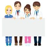 医疗小组广告牌 库存图片