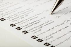 医疗形式 免版税库存照片