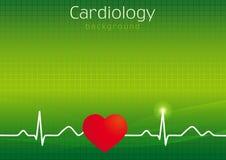 医疗心脏病学背景 免版税图库摄影