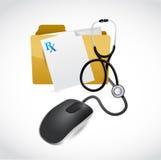 医疗文件计算机概念例证 库存例证